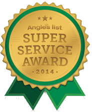 Roofing Experts on Angies List Super Service Award!