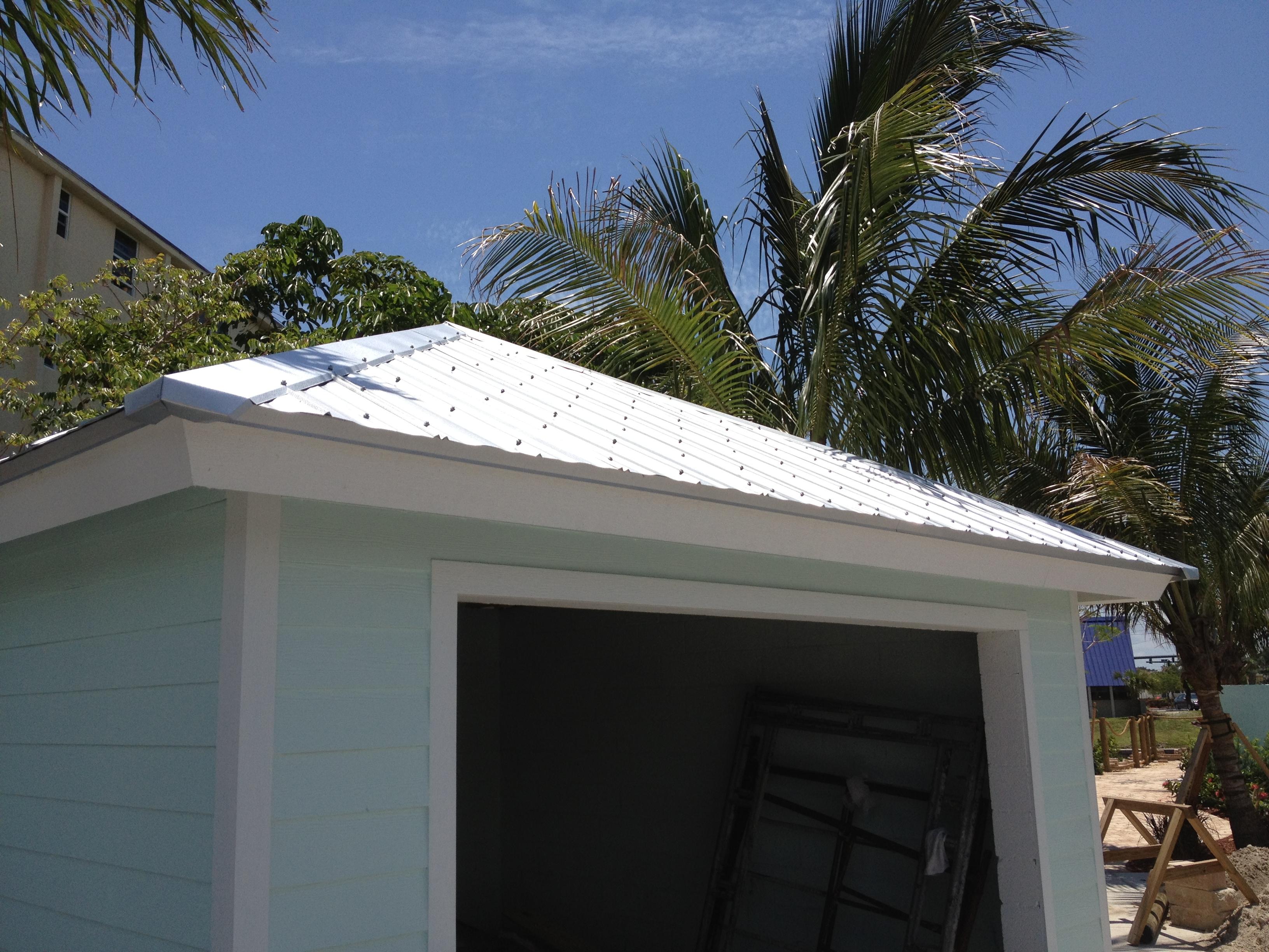 Storm Damaged In Florida Completed 5V Crimp Metal Roof