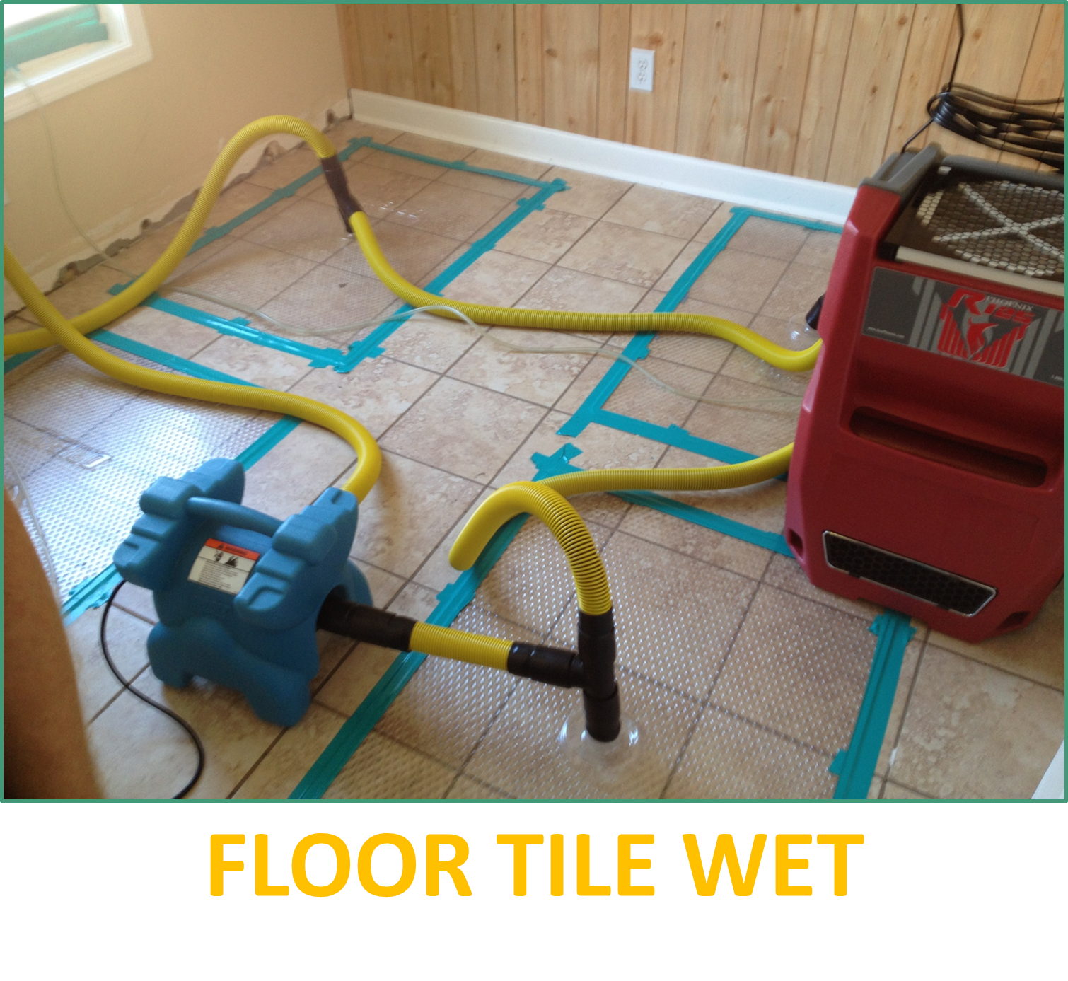 Roofing Experts saved wet tile flooring!